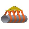линейная траверса для 4 мягкий полотенец